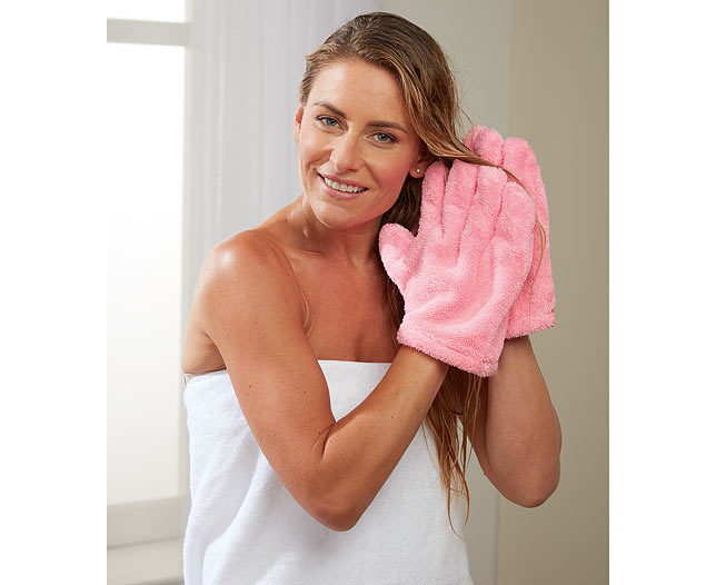 Hair Drying Gloves Pair